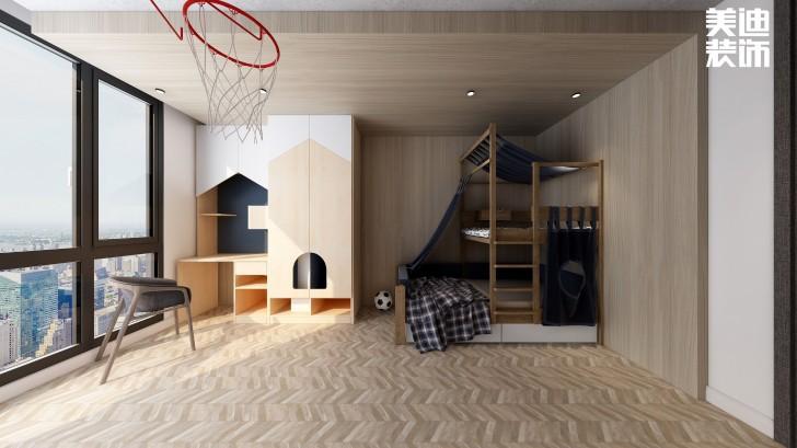 嘉和城138平米北欧极简风格亚博体育app官方下载苹果效果图--儿童房