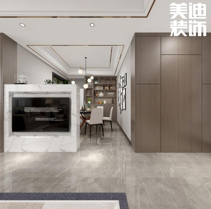 三湘小区120㎡现代轻奢风格亚博体育app官方下载苹果效果图--餐厅