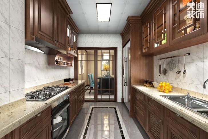 吉首新豪园小区170平米新中式风亚博体育app下载安装亚博体育app官方下载苹果效果图-厨房