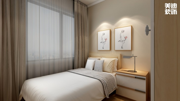 美莱美城市广场97㎡北欧风格亚博体育app官方下载苹果效果图--卧室
