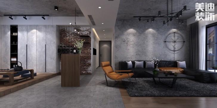 美莱美城市广场140平现代效果图--客厅