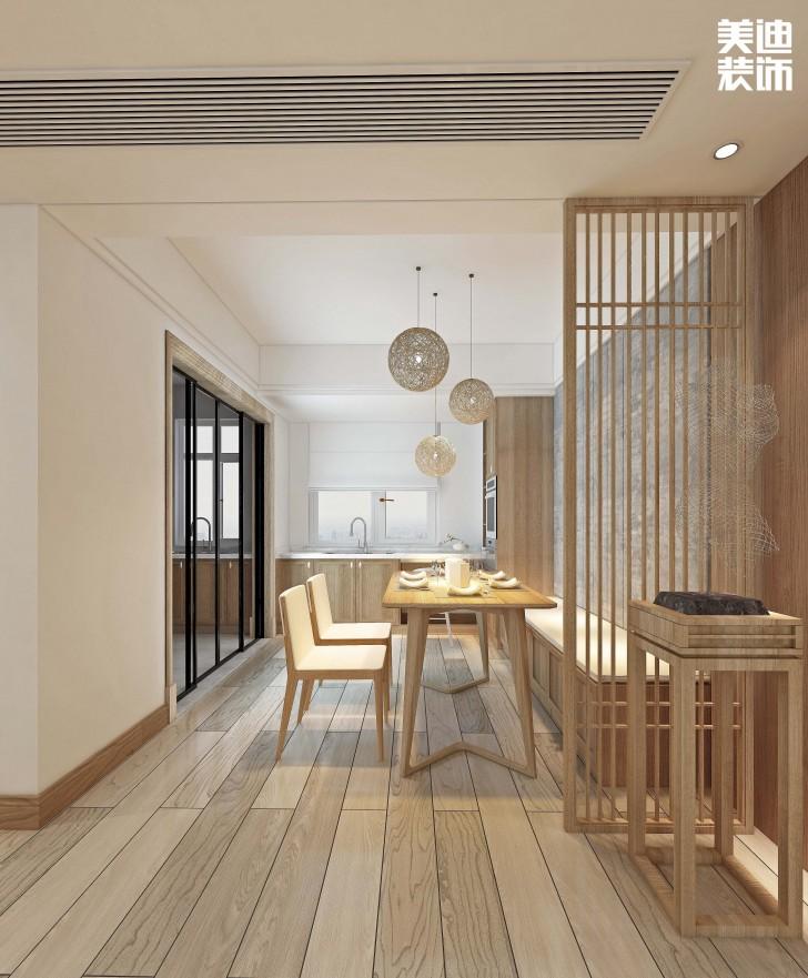 江山帝景160平方米日式风格亚博体育app官方下载苹果效果图--餐厅