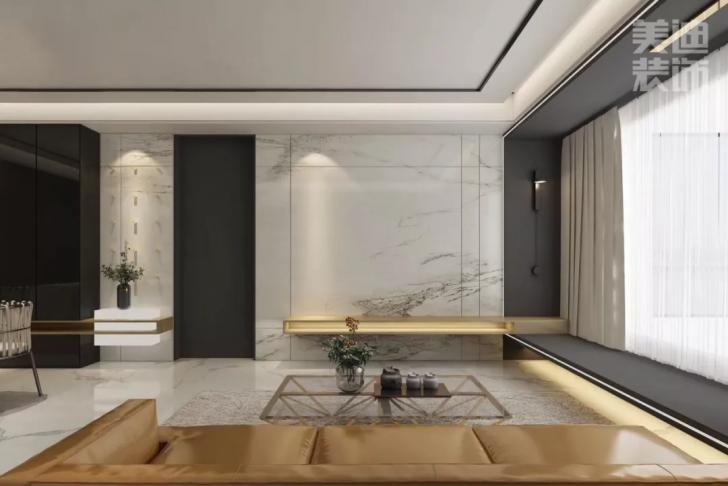 景秀世纪140平方米现代风格亚博体育app官方下载苹果效果图--客厅