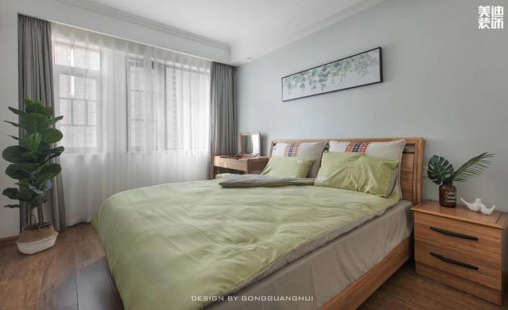 北京御园130平方米北欧风格亚博体育app官方下载苹果效果图--卧室