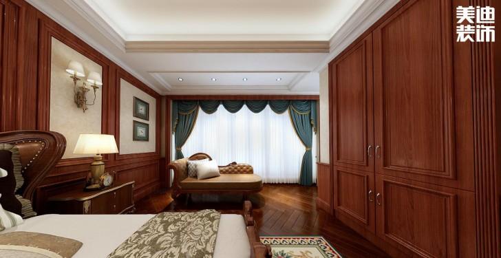 融冠非墅380平方米美式风格亚博体育app官方下载苹果效果图--卧室
