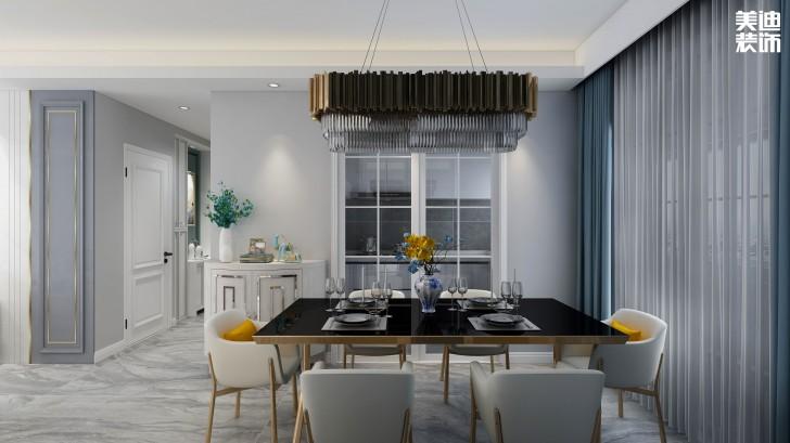 鑫远玲珑117平方米现代风格效果图--餐厅