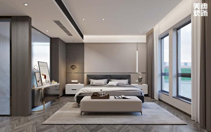 第六都180平方米现代简约风格亚博体育app下载安装效果图--卧室
