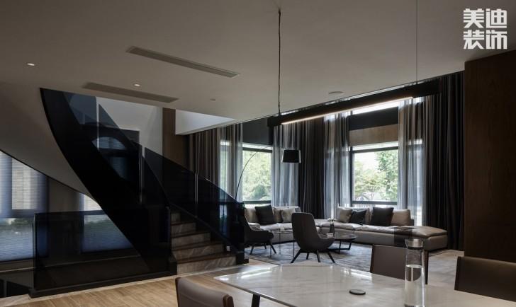 碧桂园560平方米现代简约风格亚博体育app官方下载苹果实景图--客厅