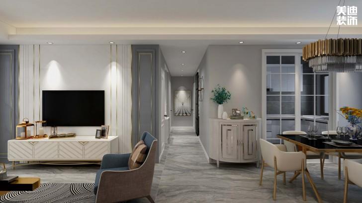 鑫远玲珑117平方米现代风格效果图--客厅