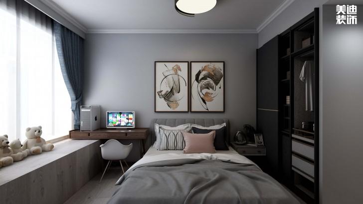 鑫远玲珑117平方米现代风格效果图--卧室