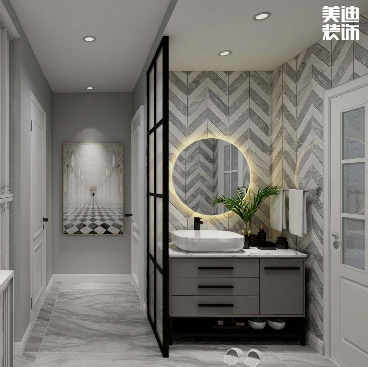 鑫远玲珑117平方米现代风格效果图--卫生间