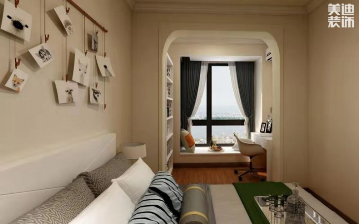 星湖湾120平方米现代风格亚博体育app官方下载苹果效果图--卧室