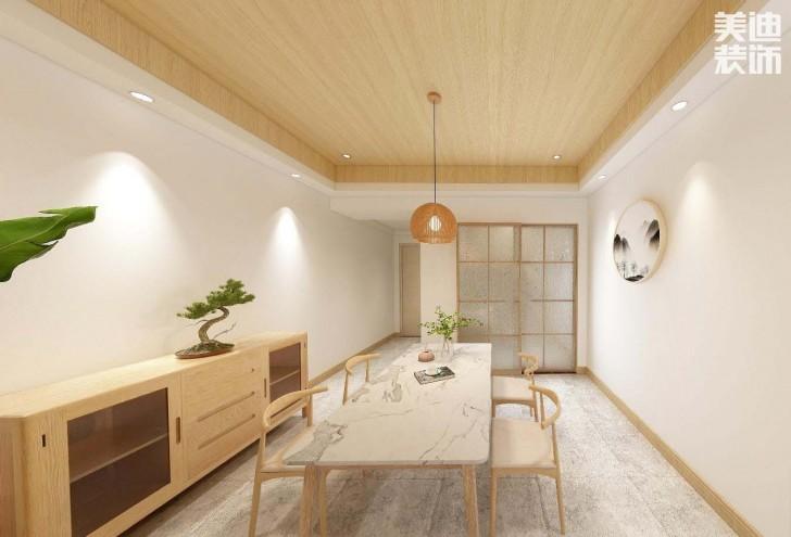 时代倾城87平方米日式风格亚博体育app官方下载苹果效果图--餐厅