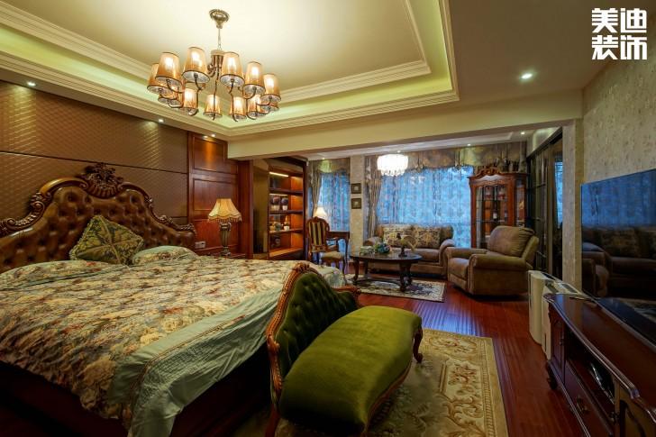 美林银谷230平方米美式亚博体育app官方下载苹果实拍图--卧室