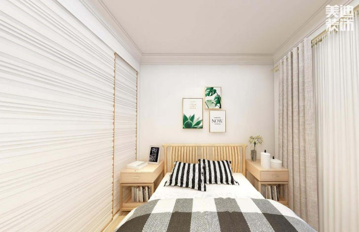 时代倾城87平方米日式风格亚博体育app官方下载苹果效果图--卧室