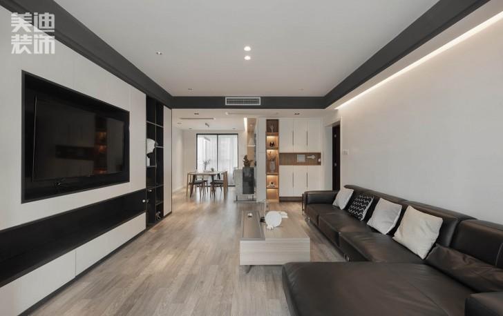 北辰三角洲144平方米现代风格亚博体育app官方下载苹果实拍图--客厅