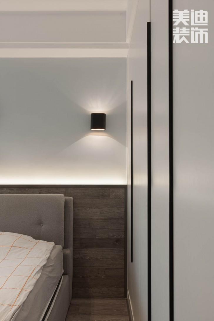 北辰三角洲144平方米现代风格亚博体育app官方下载苹果实拍图--卧室