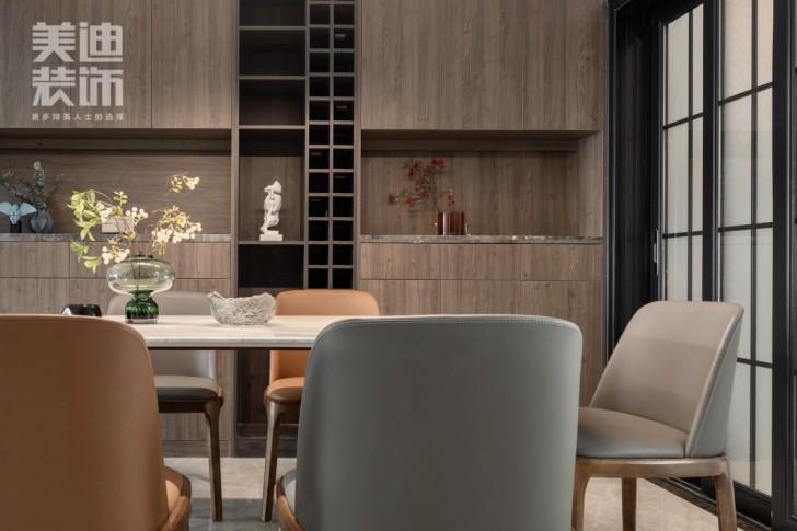 御西湖200平方米现代简约风格亚博体育app官方下载苹果实景图--餐厅