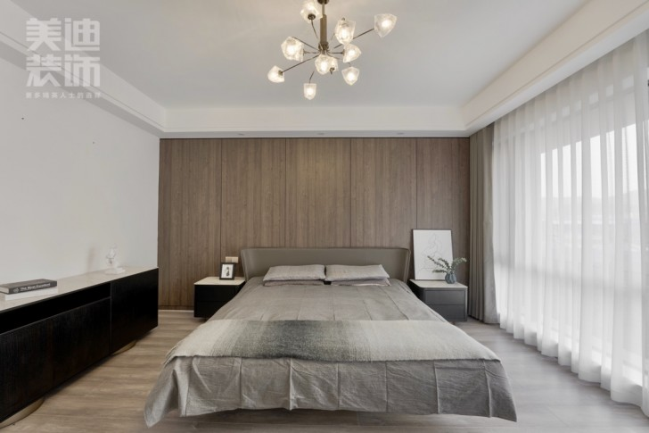 御西湖200平方米现代简约风格亚博体育app官方下载苹果实景图--卧室