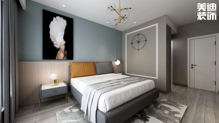 明昇壹城117平方米现代风格亚博体育app官方下载苹果效果图--卧室