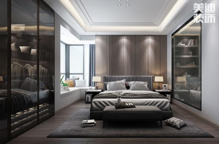 东方壹品130平方米现代风格亚博体育app官方下载苹果效果图--卧室