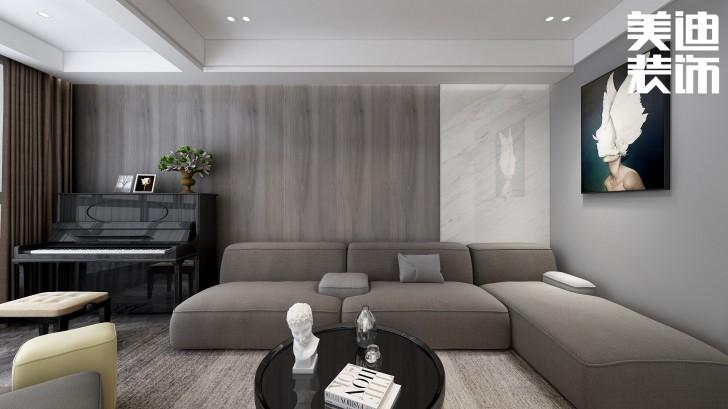 明昇壹城117平方米现代风格亚博体育app官方下载苹果效果图--客厅