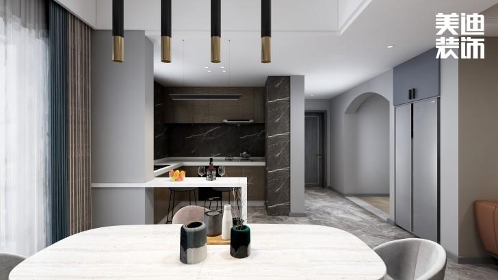 春和景园120平方米现代风格效果图--厨房