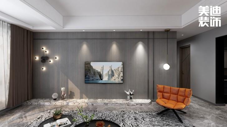 春和景园120平方米现代风格效果图--客厅