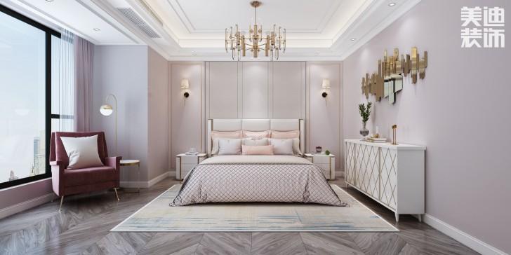 163家园165平方米北欧风格效果图--卧室