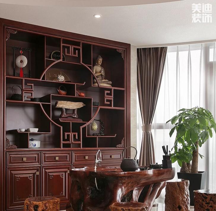 湘江豪庭300平方米新中式风格亚博体育app官方下载苹果实拍图--书房