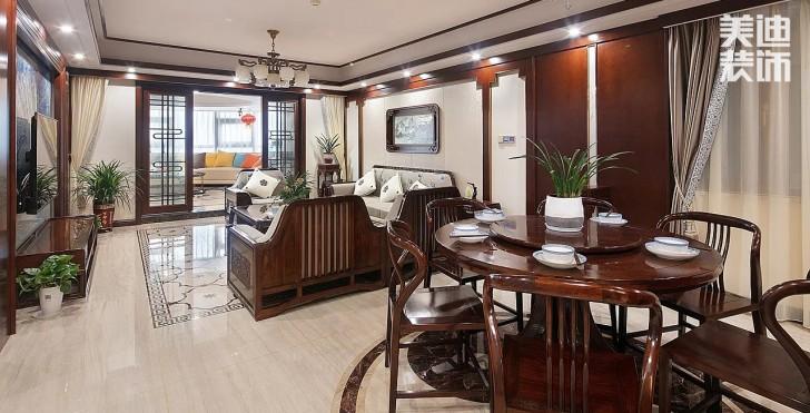湘江豪庭300平方米新中式风格亚博体育app官方下载苹果实拍图--客厅