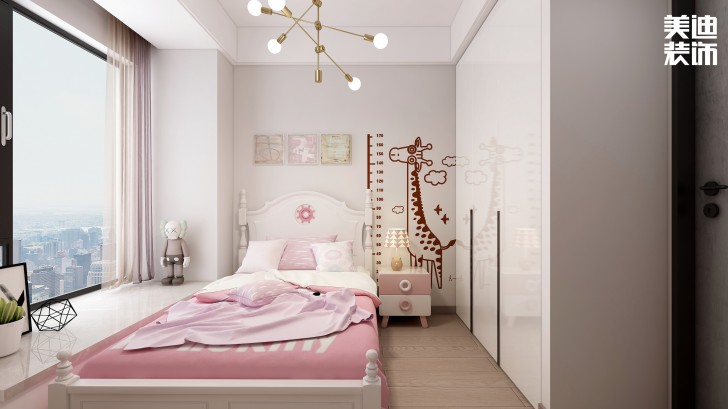 龙湖春江悦茗114平方米现代风格效果图--卧室