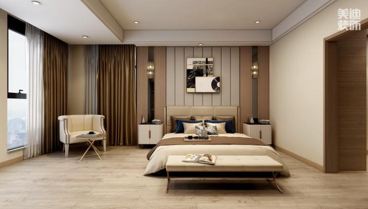 湘熙水郡196平方米现代风格效果图-卧室