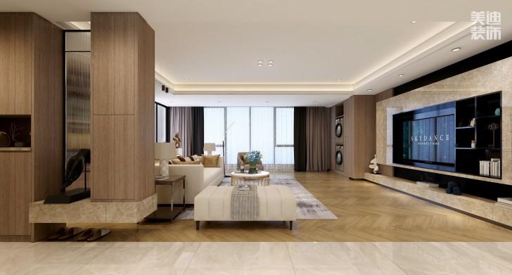 湘熙水郡196平方米现代风格效果图-客厅
