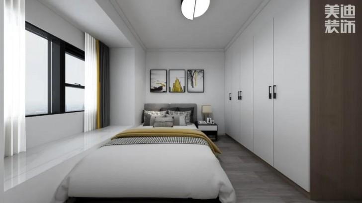 微翡翠花园134平方米现代风格亚博体育app官方下载苹果效果图—卧室