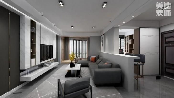 翡翠花园134平方米现代风格亚博体育app官方下载苹果效果图—客厅