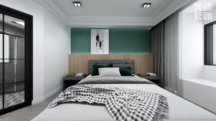 翡翠花园134平方米现代风格亚博体育app官方下载苹果效果图—卧室