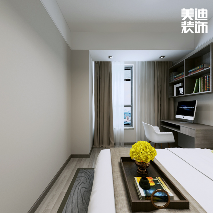 第六都160平后现代风格亚博体育app官方下载苹果效果图-卧室