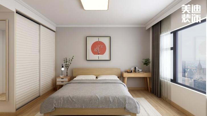 北辰中央公园112平方米日式风格亚博体育app官方下载苹果效果图-卧室