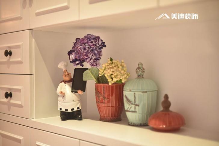 北辰三角洲美式风格100平米装修案例-花饰