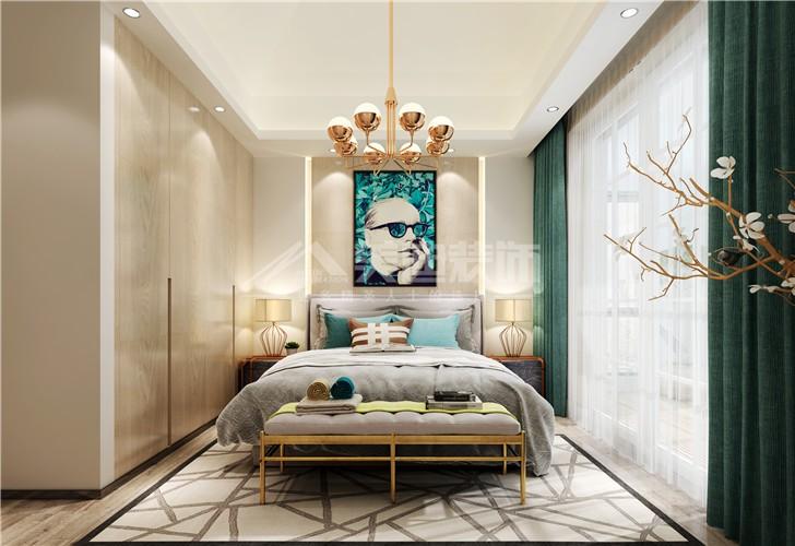 山与墅450平新奢古典风装修案例图—卧室