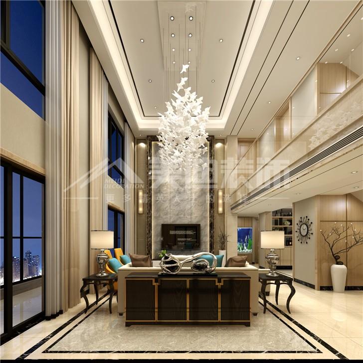 通用时代168平简欧风装修案例图—客餐厅