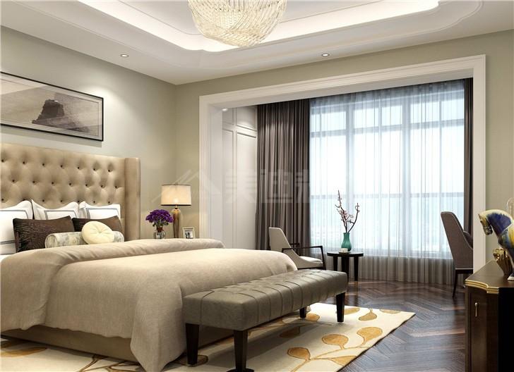 长房梅溪香山240平欧式风装修案例图—卧室