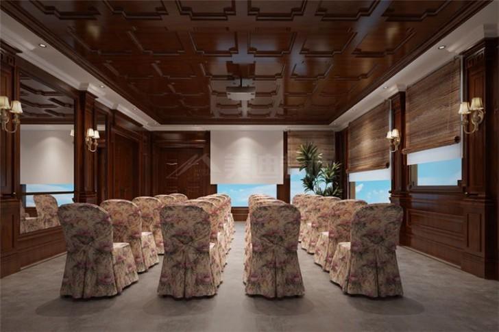 碧桂园800平美式风装修案例图—影音室