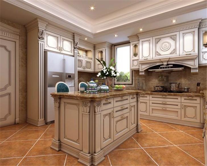 碧桂园800平美式风装修案例图—厨房