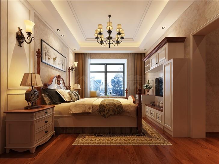 怡海星城151美式平北欧风装修案例图—卧室