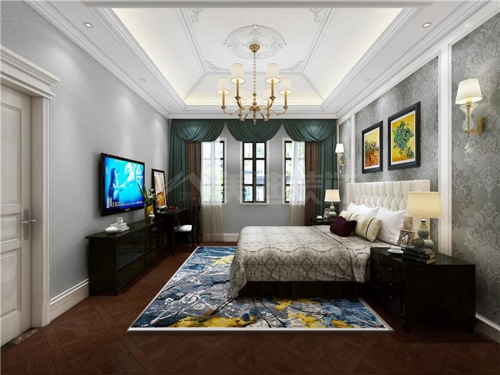 好望谷260平新古典风装修案例图—主卧室