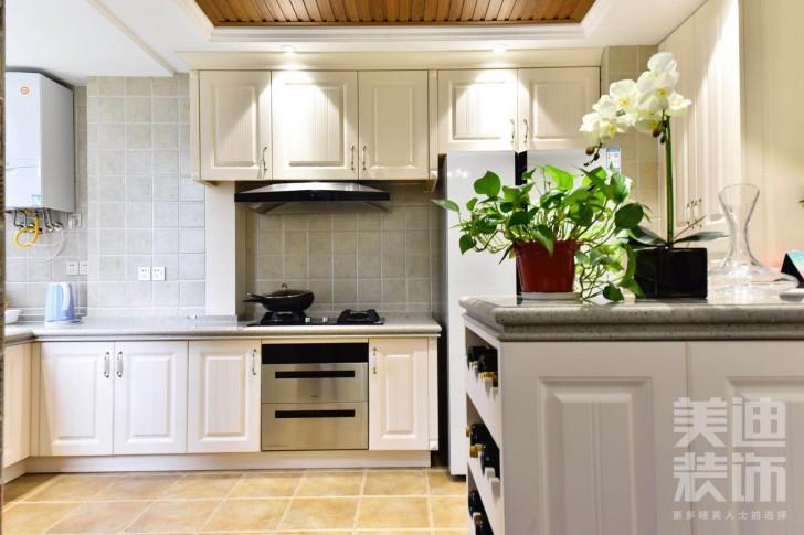 八方小区160平小美风格装修案例图-厨房