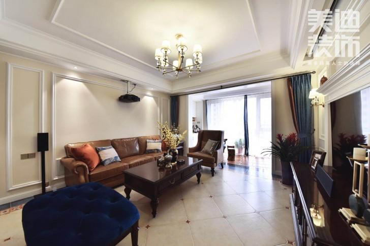 八方小区160平小美风格装修案例图-客厅