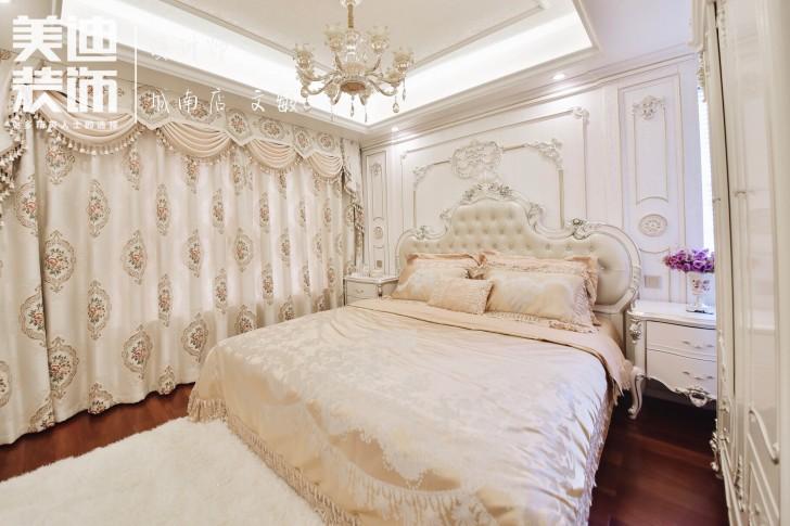 水岸御园125平欧式风格装修案例实拍图-卧室